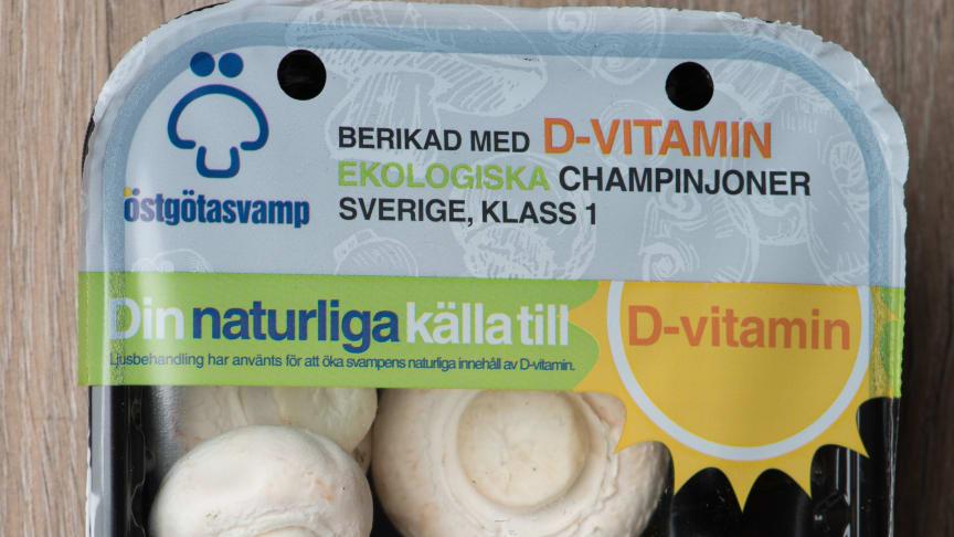 Ekologiska D-vitamin champinjoner