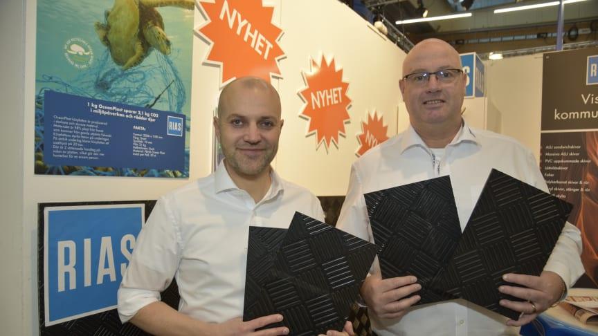 Elmia Subcontractor var en given plats för oss att lansera GLS Industries, säger vd Jens Petersson (tv) och marknadschef Anders Larsson (th).