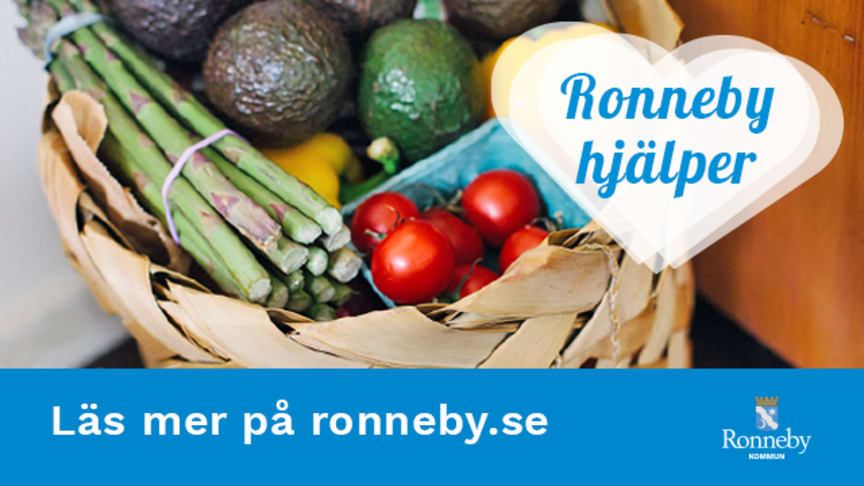 Ronneby hjälper - för att medborgare i riskgrupp ska få livsmedel och medicin