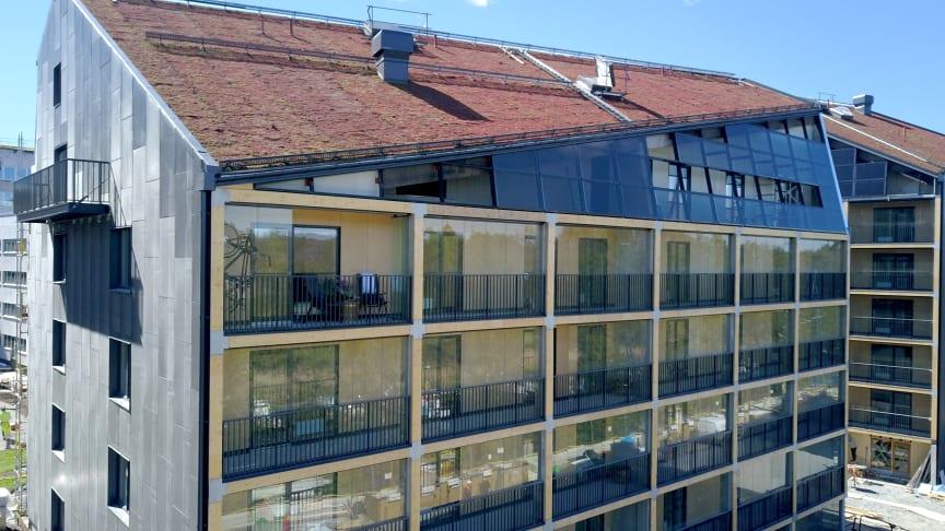 Hållbara kranar från Mora Armatur i Stockholms första plusenergihus
