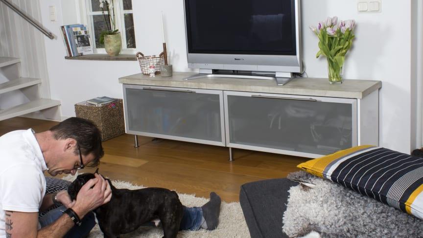 Trendig tv-bänk – gör det själv