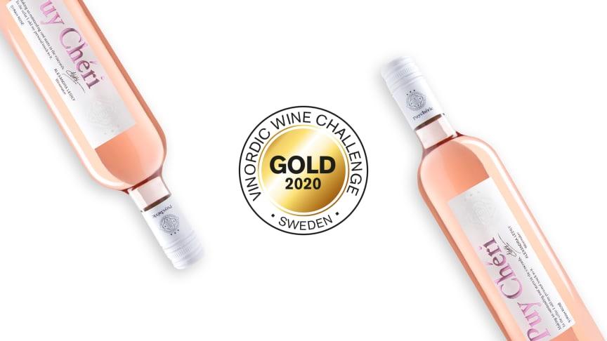 Guld till Puy Chéri Syrah Rosé i Vinordic Wine Challenge 2020
