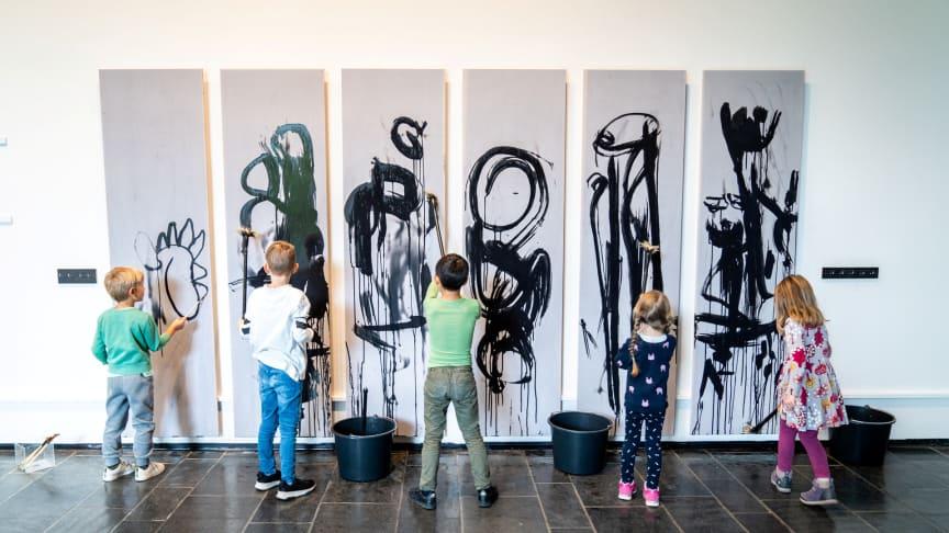 Fra barnas kunstdag på Munchmuseet på Tøyen. Foto: Munchmuseet