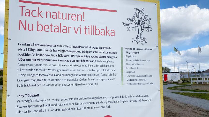 Täby Trädgård ekosystemtjänster