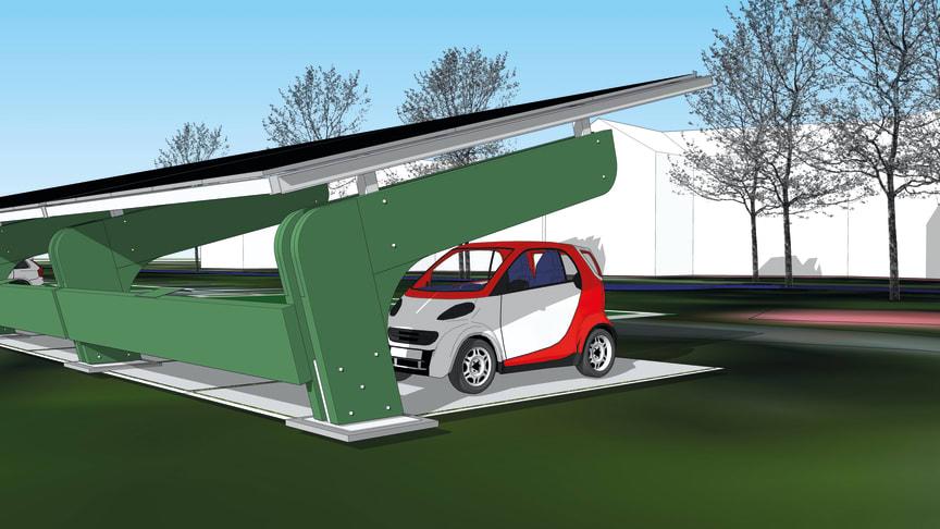 Snart har stadsdelen Rosta i Örebro tillgång till en laddstation för 16 bilar som drivs av solceller.