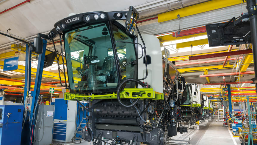 CLAAS restarts series production of harvesting technology and tractors