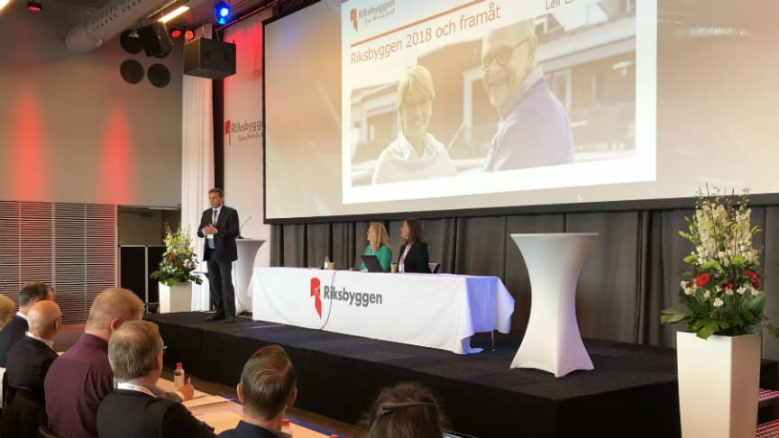 Riksbyggens fullmäktige samlades för stämma på Clarion Hotel i Stockholm den 9 maj.