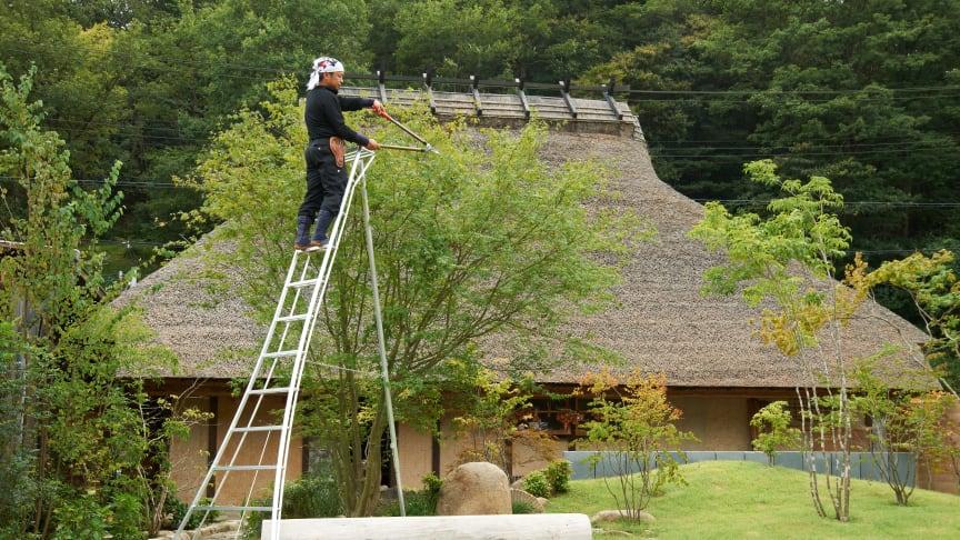 A Japanese tripod ladder has won the 2018 Elmia Garden Award.  Photo: ARS – Nakaya Scandinavia AB