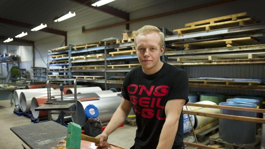 Finalist SM för unga plåtslagare 2015, Jonathan Wahlund, Jönköping
