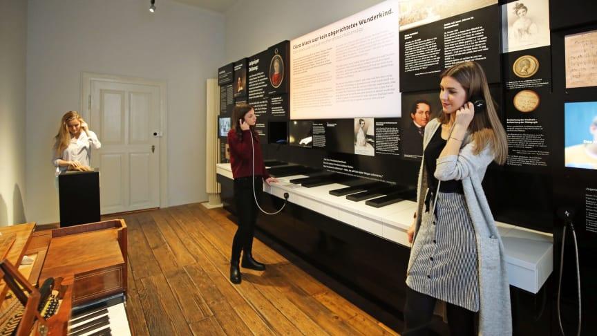 Die neue Dauerausstellung im Schumann-Haus Leipzig können Besucher mit allen Sinnen erleben - Foto: Andreas Schmidt