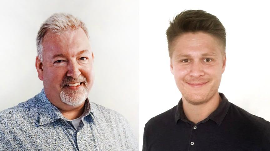 Nils Edström (t.v.) och Oscar Bruhn (t.h.), nya säljare på CTC.