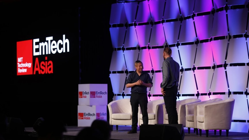 Speakers on stage at EmTech Asia 2019 | Credit: Koelnmesse Pte Ltd