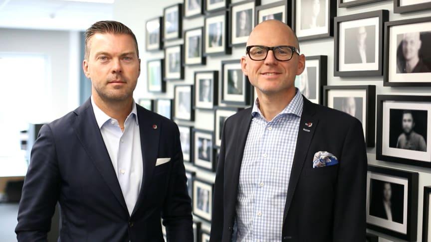 VD Andreas Jaldevik och vVD Pär Jorstadius