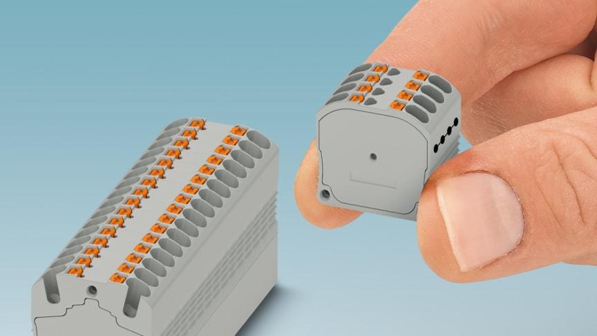 MP 1,5 monterad på DIN-skena NS 15 och MPI 8X1,5