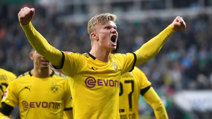 Erling Braut Haaland og resten av Bundesliga-stjernene er tilbake på Viaplay fra lørdag 16. mai