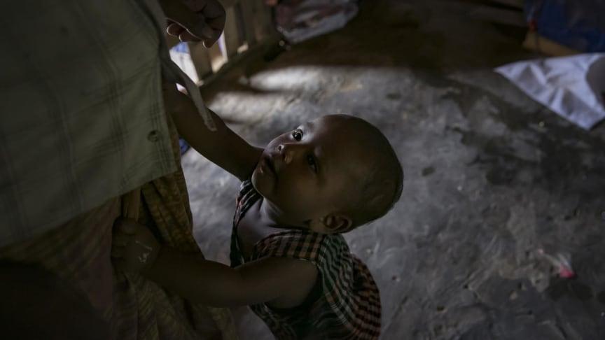 Abdullah Noman, 10 månader, är en av alla de barn som befinner sig i världens största läger - Cox's Bazar