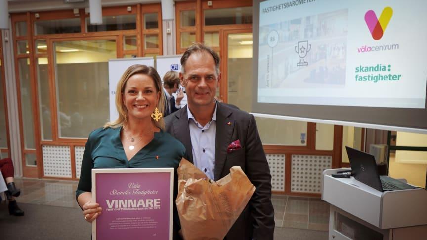 Väla har Sveriges nöjdaste köpcentrumhyresgäster för 12:e året i rad