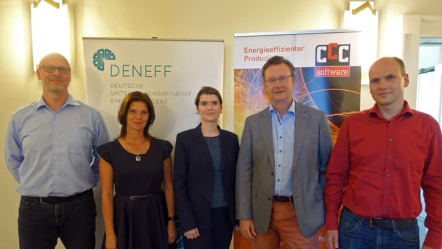 Jens Heinrich, Heike Diebler, Claire Range, Dr. Jens Katzek und Heiko Bär (v.l.n.r.)