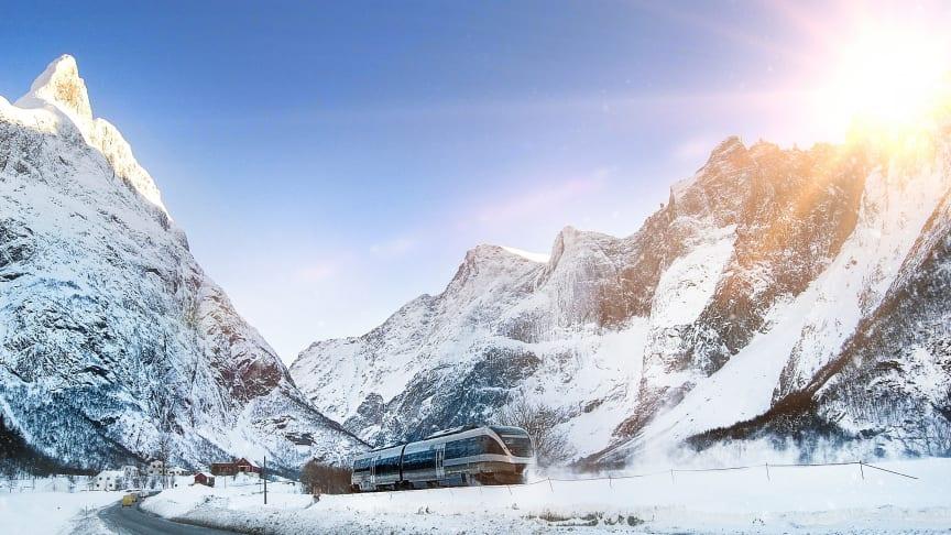 Raumabanen i Norge. Fotograf: Leif Olestad.