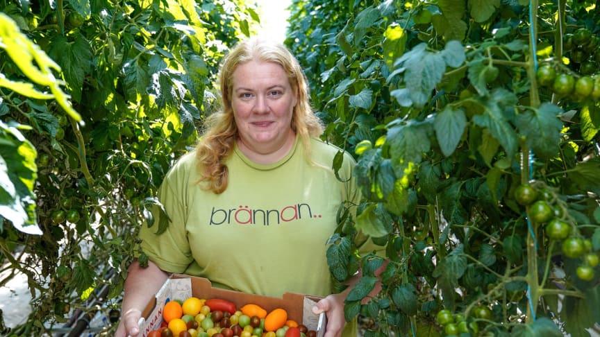 Caroline Andersson, Brännan Trädgård berättar om sin klimatcertifiering i Svenskt Sigill