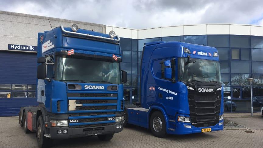 Selvom den ikke har vist træthedstegn eller har været igennem de store reparationer, får Flemming Jensens Scania 144 nu ro. En ny Scania S 450 overtager dens plads.