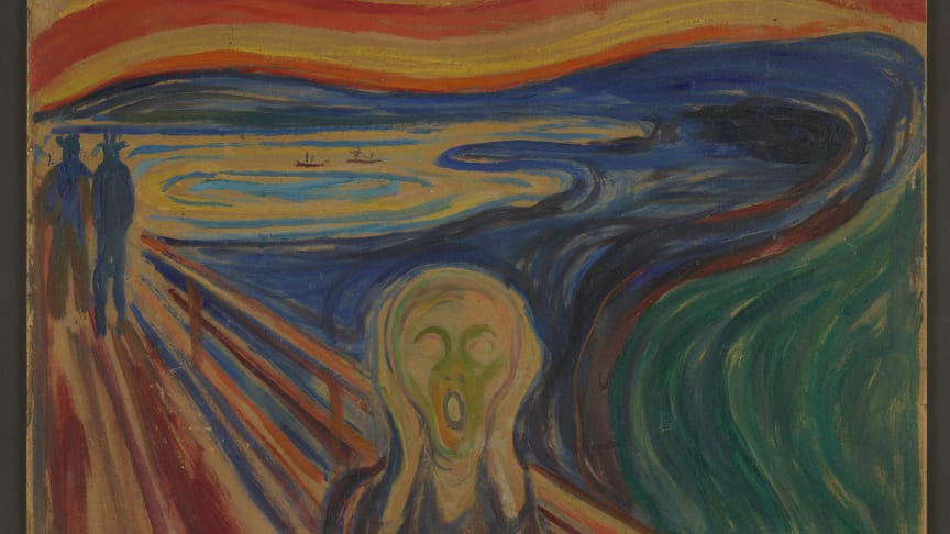 Skrik Olje på lerret. Foto: Munchmuseet