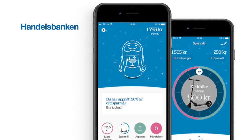 Smart Refill will deliver a mobile application for Handelsbanken with the aim of teaching children and teenagers about the value of money