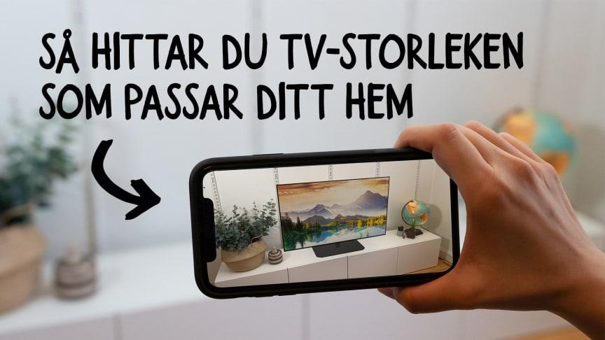 Testa hur stor TV du kan ha med hjälp av AR.