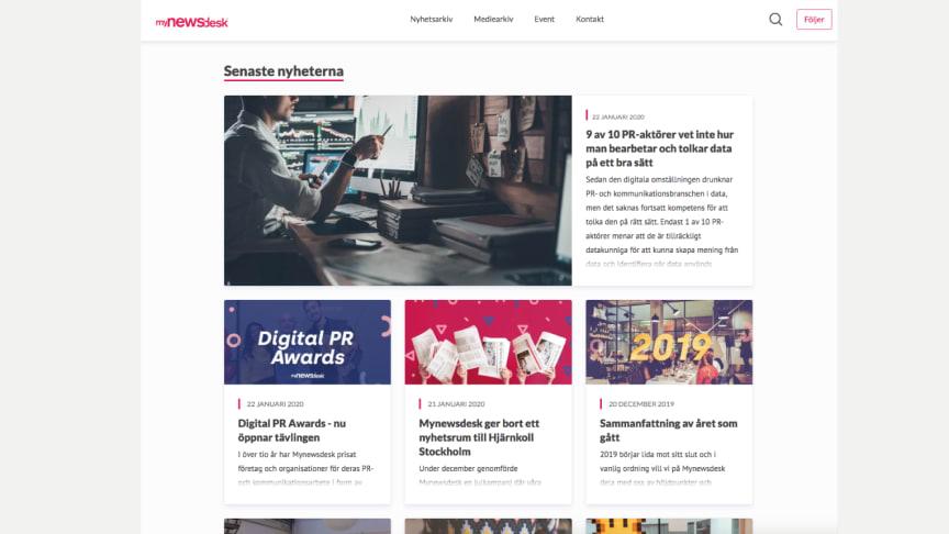 Mynewsdesk lanserar ny design -  största förändringen på 11 år