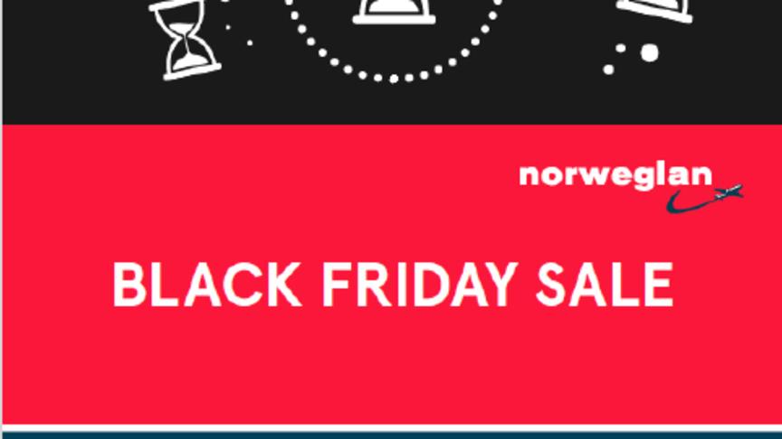 Black Friday : jusqu'à 30% de réduction sur les vols Norwegian