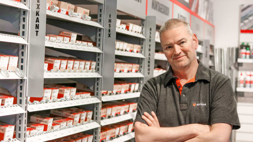 Peter Nyström är produktchef för fästelement på Würth Svenska AB
