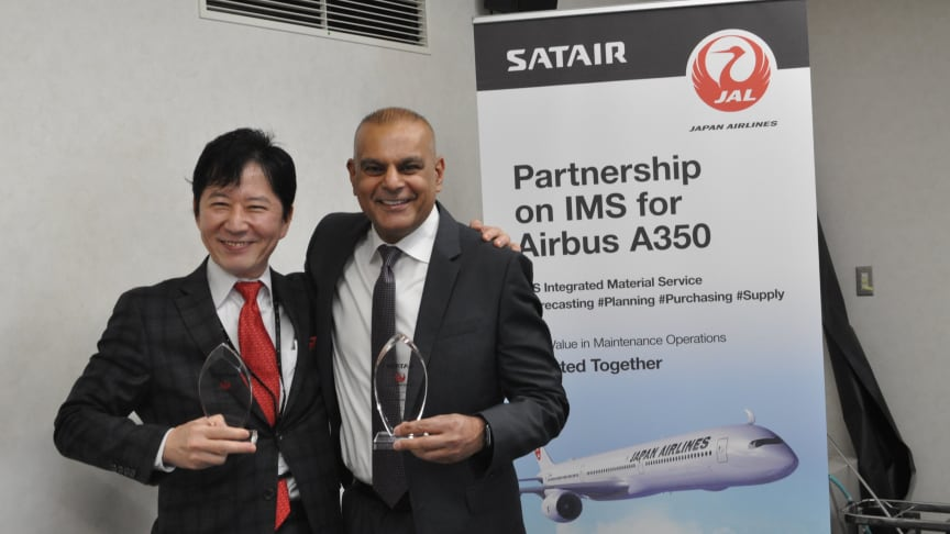 Kojiro YAMASHITA - VP, Procurement, Japan Airlines and Paul Lochab, Chief Commercial Officer, Satair.
