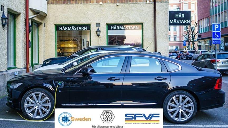 BIL Sweden, MRF och SFVF inleder ett samarbete om en gemensam branschstandard för säker hantering av elfordon