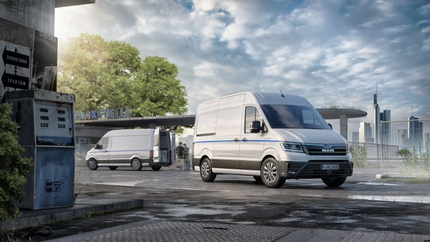 Den nye 100 procent elektriske varebil fra MAN - eTGE