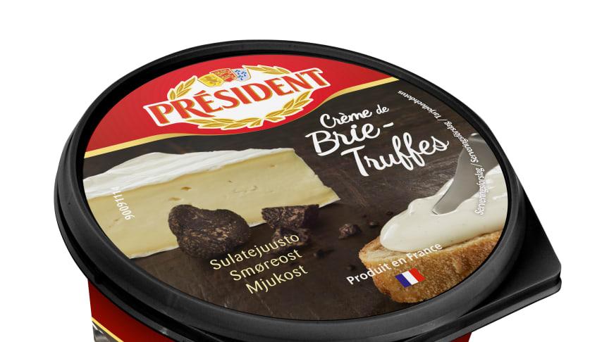 """Président """"Crème de"""", ett nytt sortiment som förenar franska smaker med smidigheten hos bredbara ostar."""