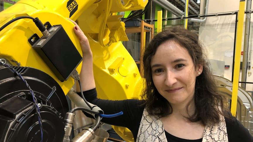 Ana Magalhães forskning om friktionsomrörningssvetsning i aluminium följs med stort intresse av fordons-, flyg-, marin- och järnvägsindustrin.