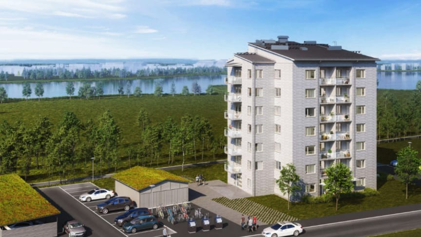 Riksbyggen finns på plats på tomten  Strandparksvägen under Stora visningshelgen.  Här planerar Riksbyggen för Svanenmärkta bostäder i  Brf Violroten.