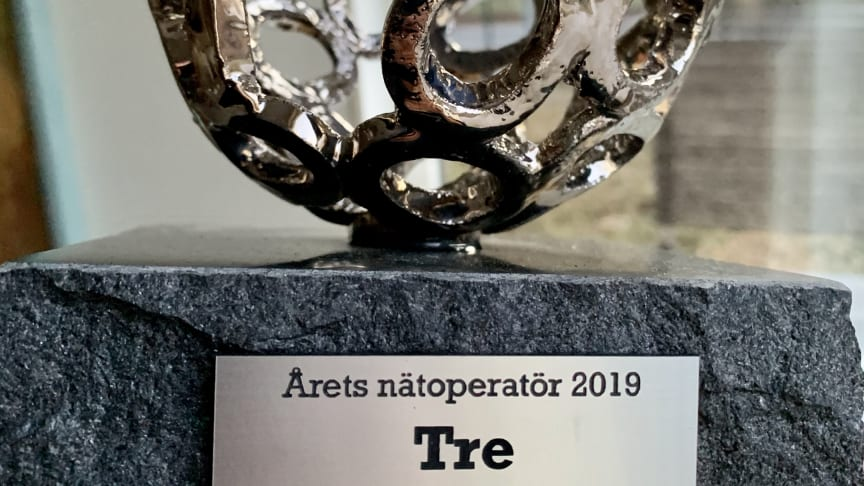 Tre Sverige vinner Årets Nätoperatör 2020.