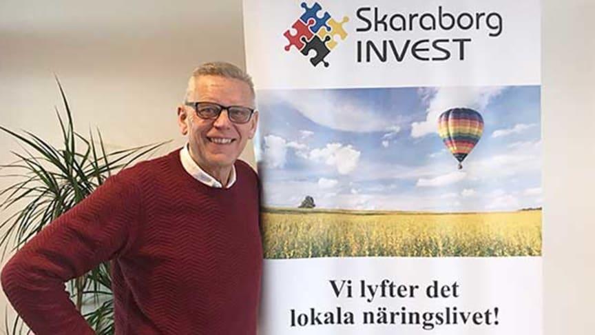 Carl Henrik Ohlsson, vd för Skaraborg Invest AB, är glad över att Skaraborg Invest bidragit till 154 innovativa arbetstillfällen i Skaraborg.