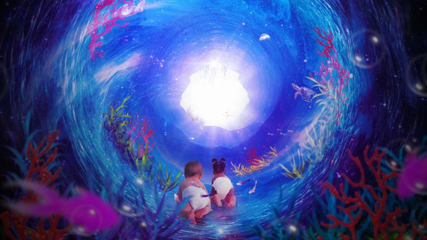 Den kosmiska havsträdgårdspassagen är ett spännande dansäventyr för bebisar och vuxna att dyka in i tillsammans.