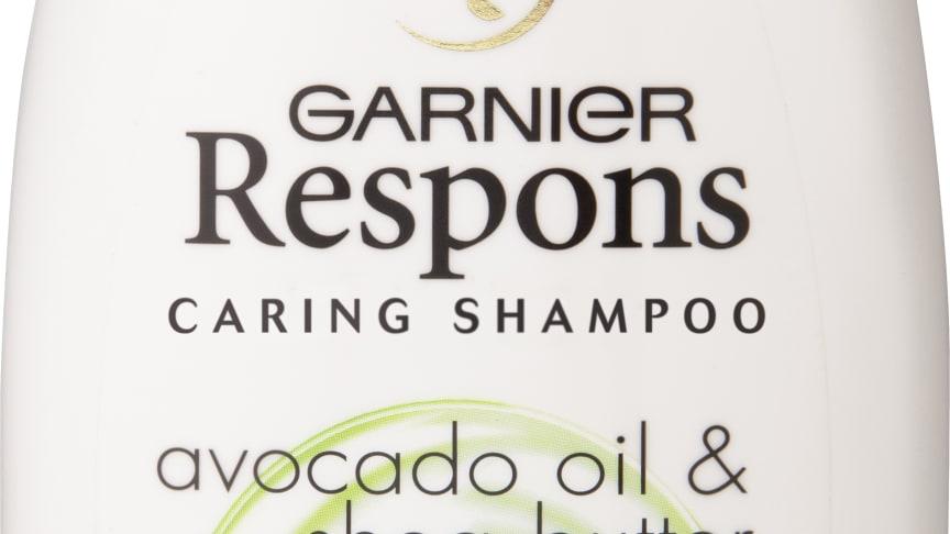 Garnier Respons avokado shea -hoitava sampoo kuiville ja vaurioituneille hiuksille