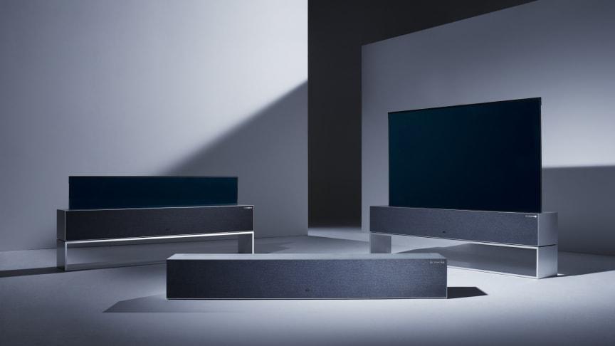 LG presenterar världens första ihoprullbara TV