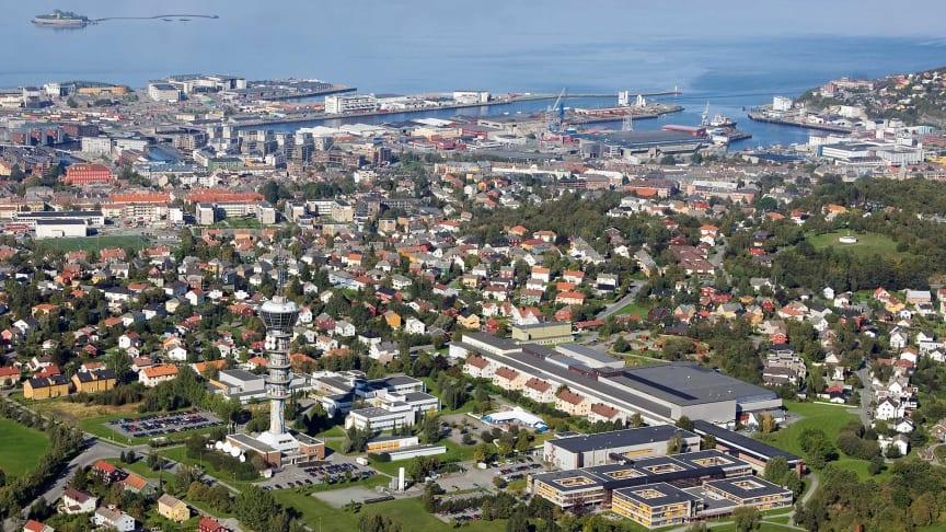 Ocean Space Centre skal erstatter dagens marintekniske senter på Tyholt i Trondheim | Foto: Erik Børseth, Synlig design og foto/NTNU