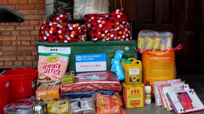 """Mit dem Hilfspaket """"Home in a Box"""" wird Familien ein Neustart ermöglicht"""