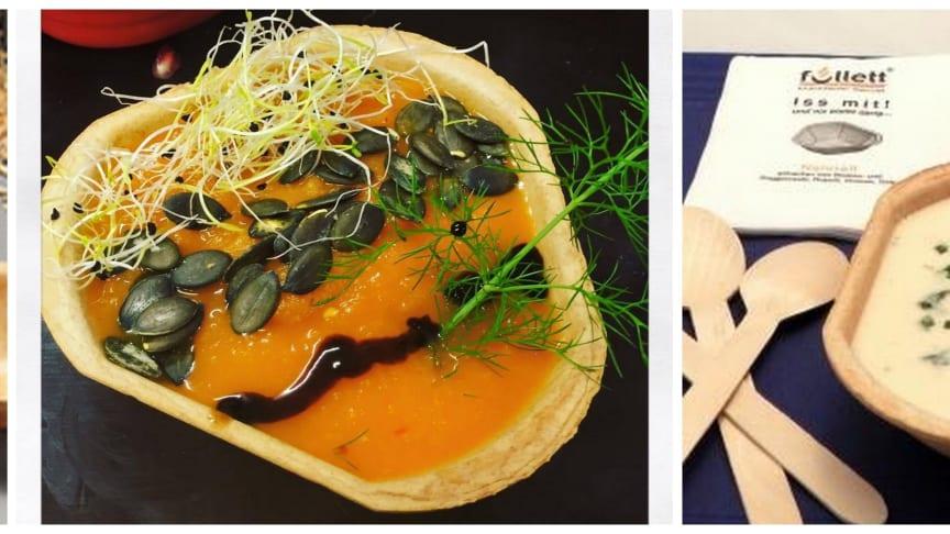 Füllett, die knusprigen essbaren Schalen in verschiedenen Größen für den Cateringbedarf