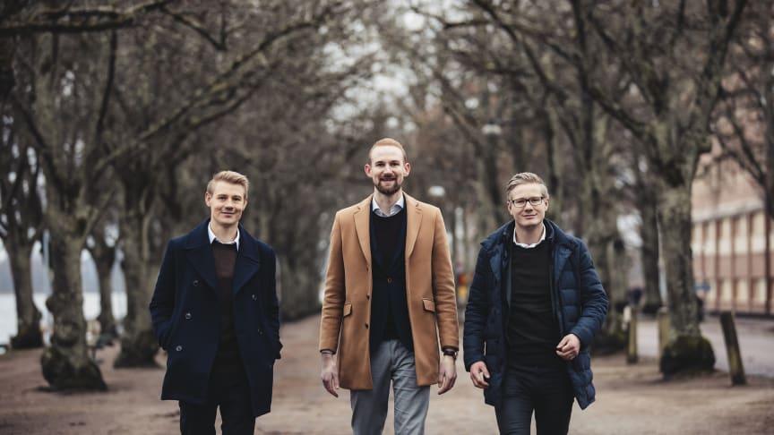 Toni Ringberg, Daniel Bohn och Eric Melkersson ska driva Växjö-kontoret.