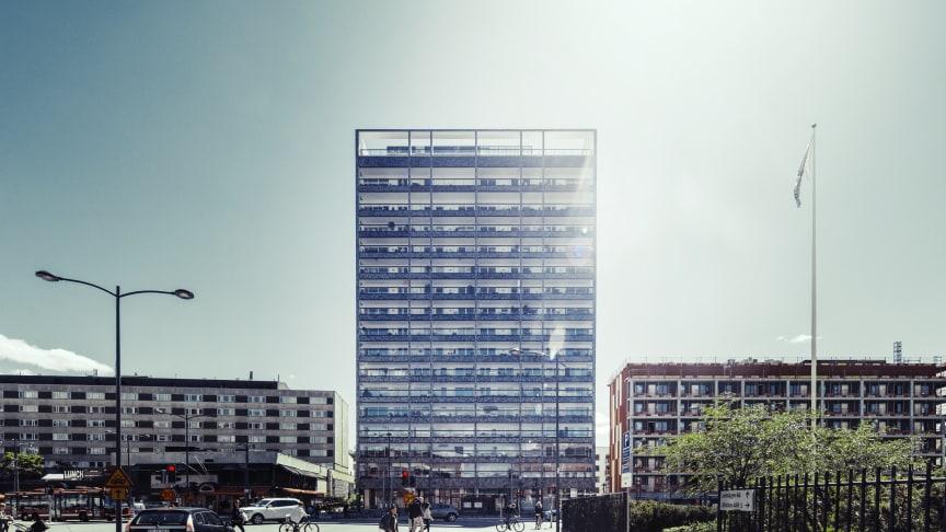 Brf Landmärket med 64 lägenheter är ett av de projekt som Riksbyggen genomfört vid Sundbyberg Strand