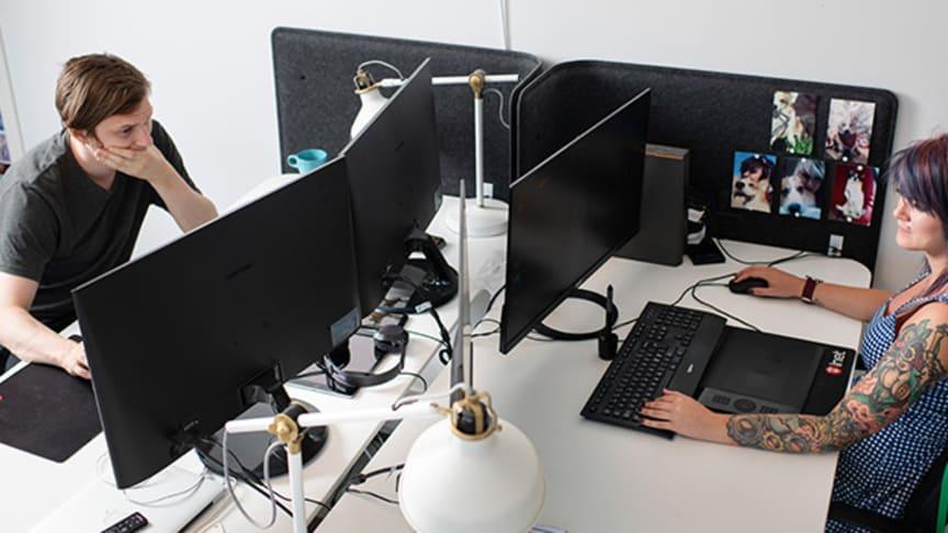 Sedan 2004 har +100 spelbolag startats i The Game Incubator. Foto: Robin Aron/Lindholmen Science Park