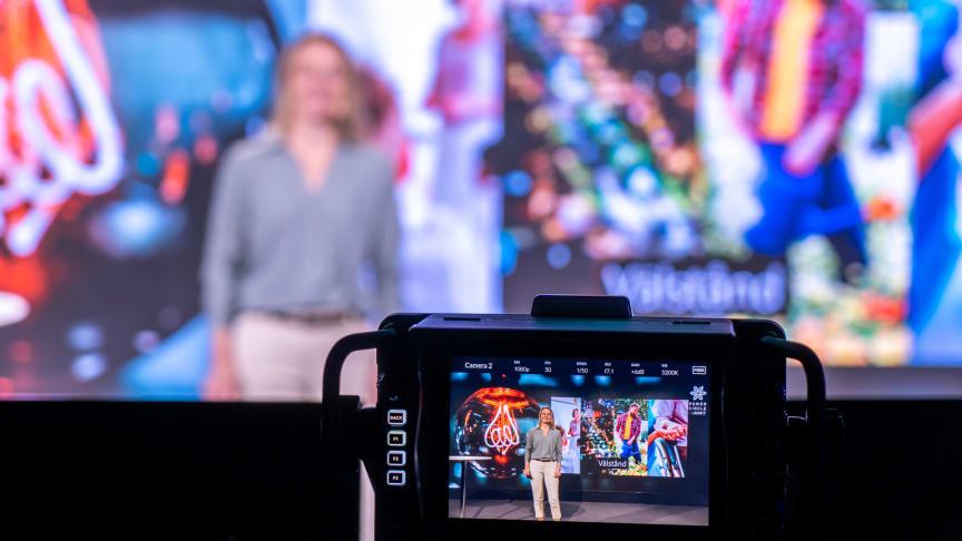 Lina Håkansdotter, Svensk Näringsliv, under förinspelningarna av PC Summit 2020