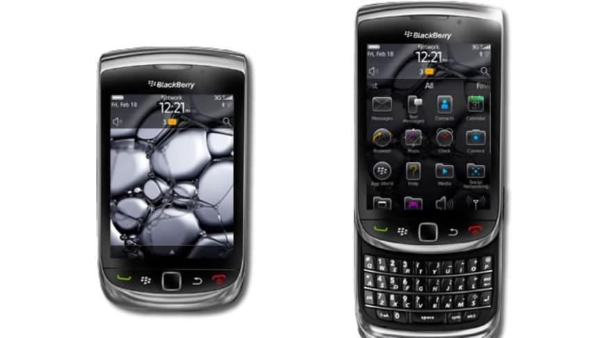 Förhandsbokning av nya BlackBerry Torch hos Telenor